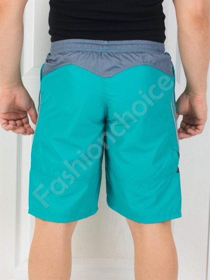 Мъжки панталонки с кант в цвят петрол
