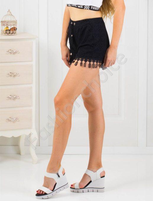 Дамски дантелени къси панталонки-код 867