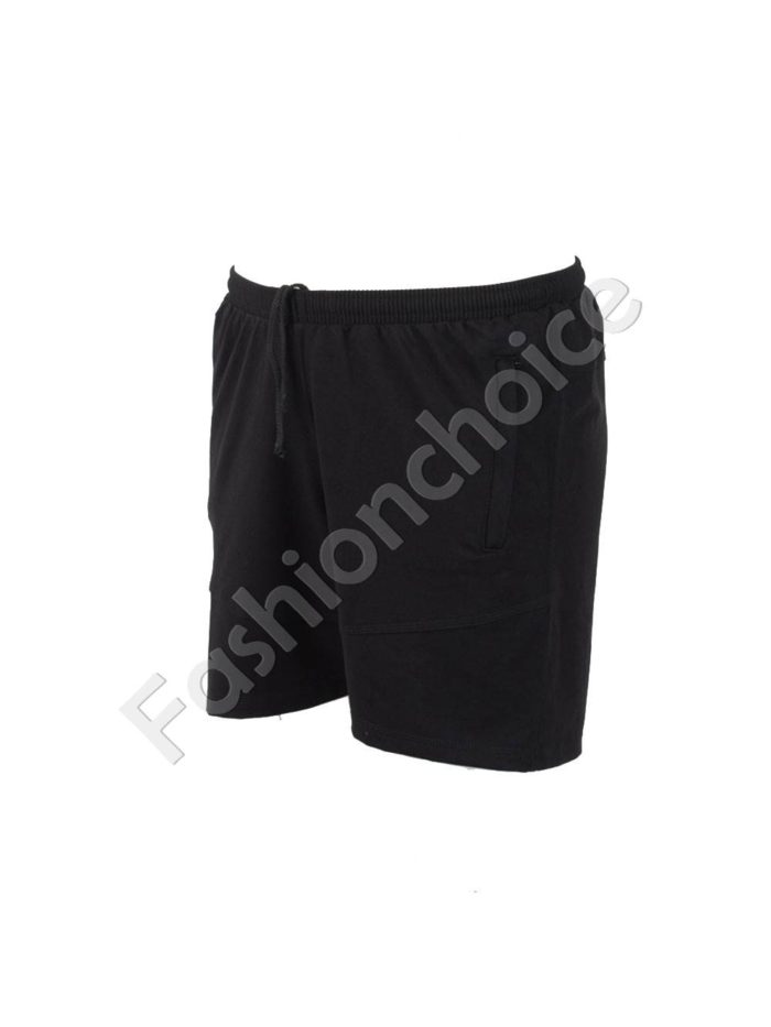 Къси мъжки макси спортни панталони в черно/58-66/Код 001