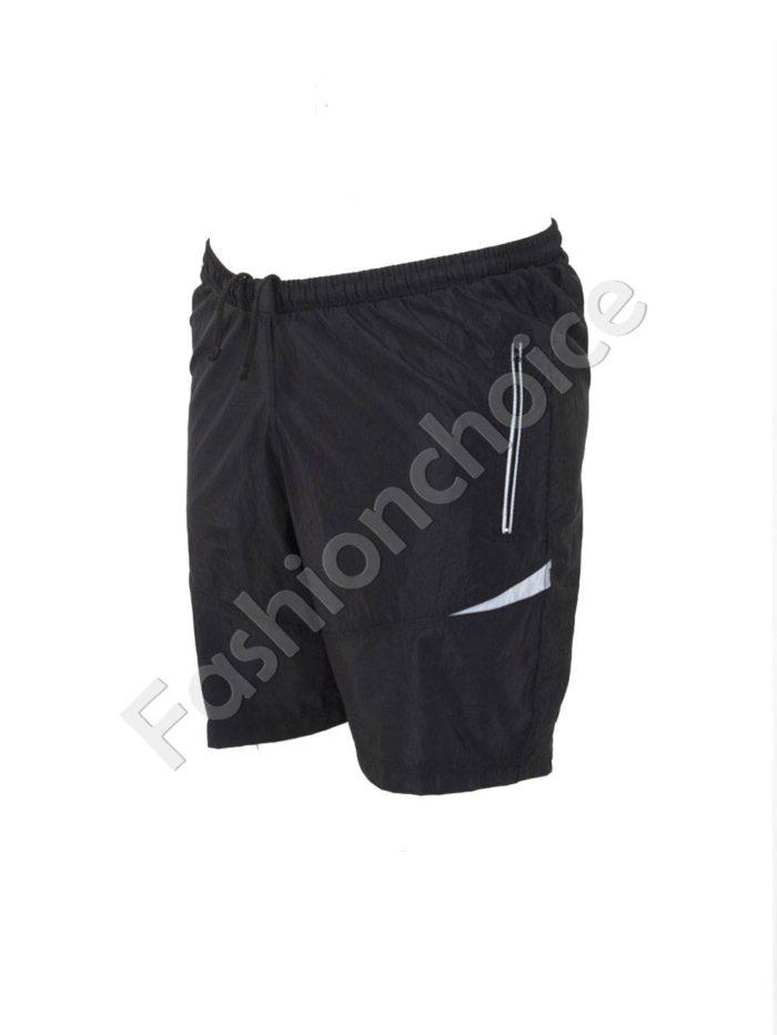 Къси макси спортни панталони в черно със сиво/58-66/Код 001-5