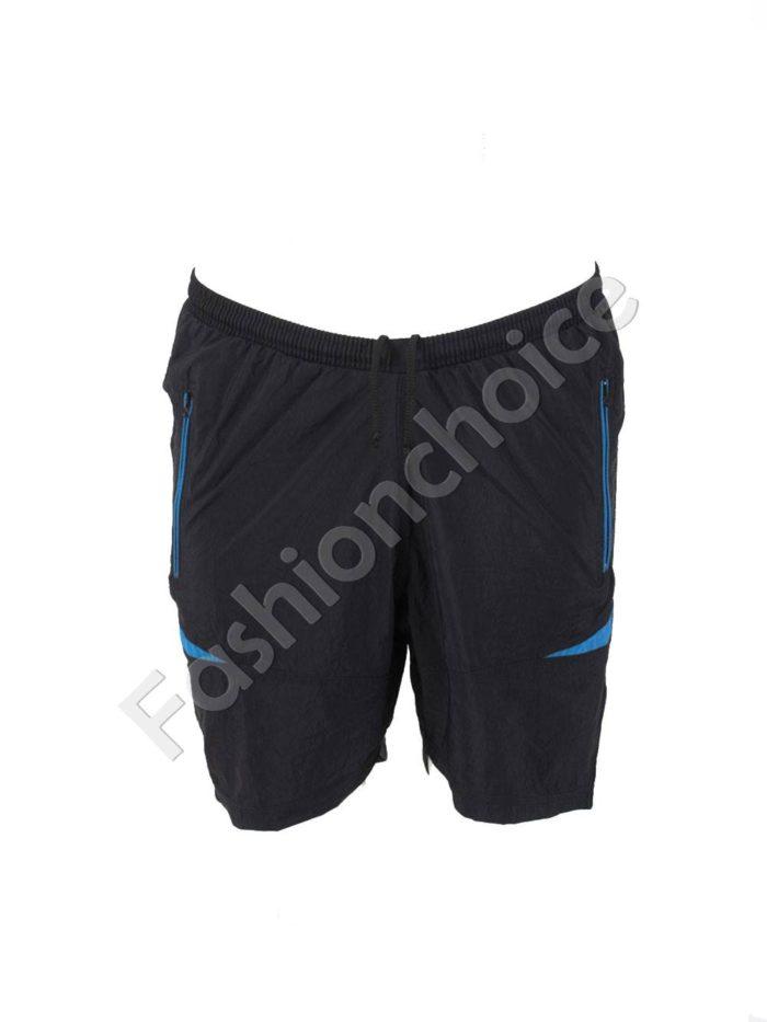 Къси макси спортни панталони в черно със синьо/58-66/Код 001-3