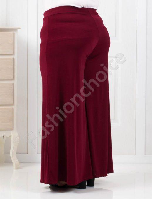 Дамска макси пола-панталон в цвят бордо-код 538-4