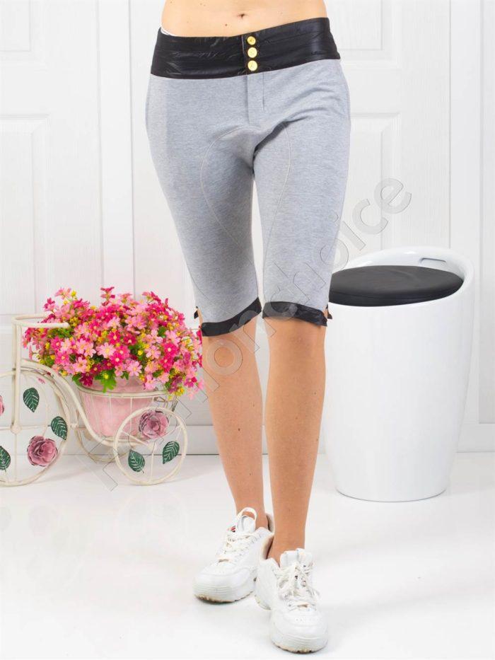 Страхотен дамски спортен панталон в сиво