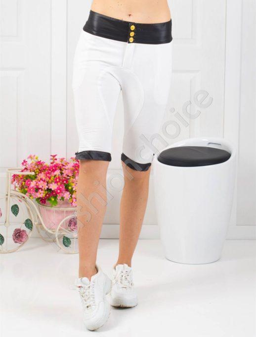 Страхотен дамски спортен панталон в бяло