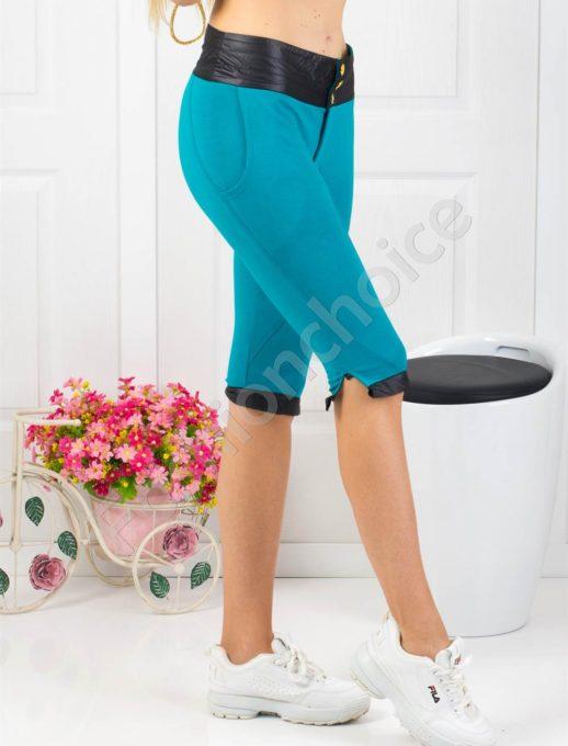 Страхотен дамски спортен панталон в цвят петрол