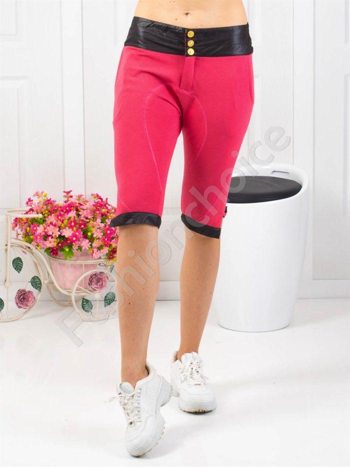 Страхотен дамски спортен панталон в цвят корал