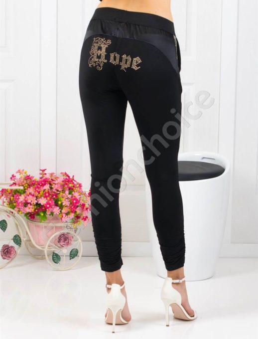 Спортно-елегантен дамски панталон в черно-код 180-1362