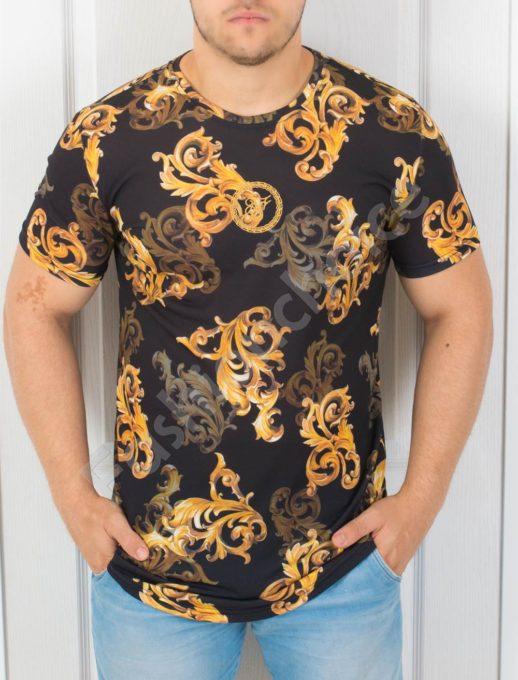 Мъжка свежа цветна тениска-код 853-5