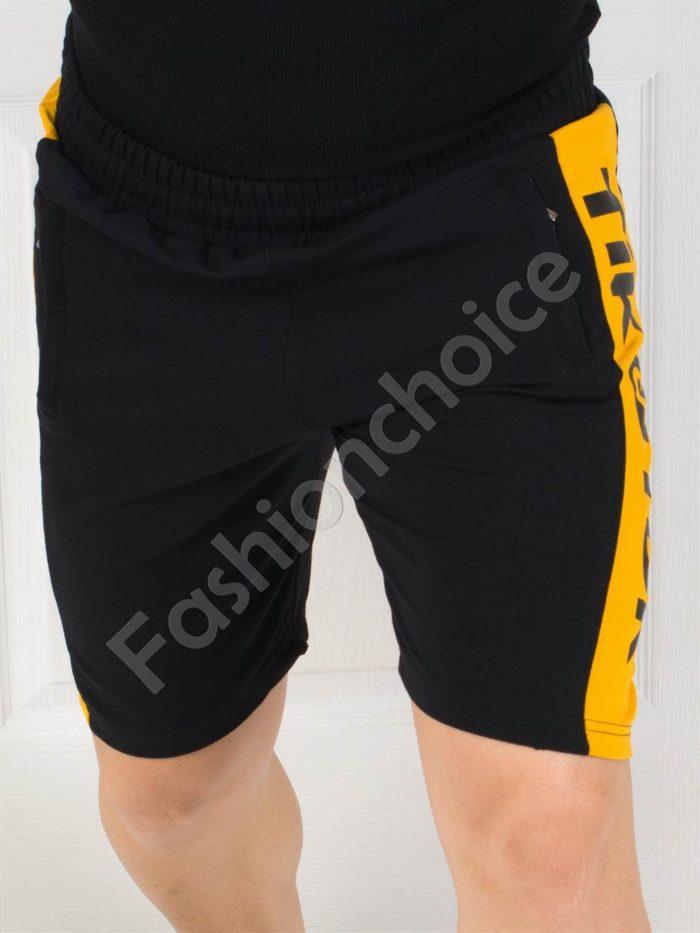 Мъжки панталонки със страничен кант и надписи