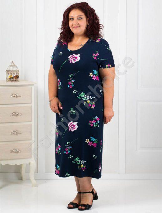 Красива макси рокля на нежни цветя