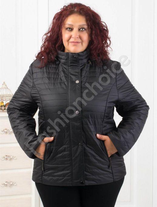 Елегантно макси дамско яке в черно- Код 1903-3