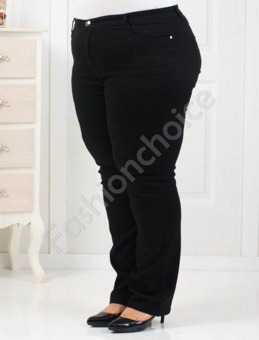 Елегантен дамски макси панталон в черно-Код 1013