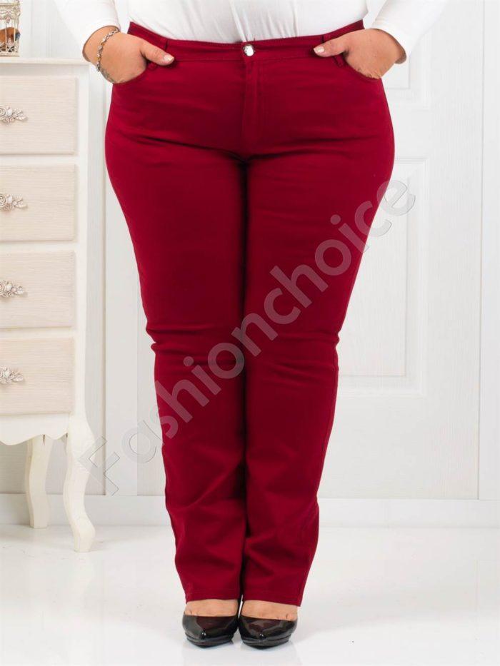 Елегантен дамски макси панталон в бордо-Код 1013-1
