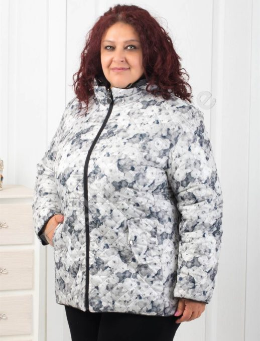 Ефектно двулицево дамско яке в черно-Код 5819-4