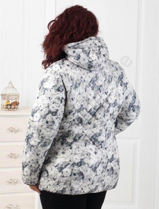 Ефектно двулицево дамско яке в тъмно синьо-Код 5819-1