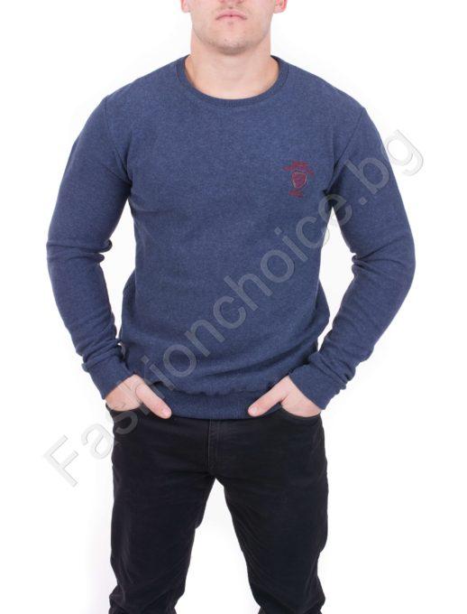 Мъжка блуза от плътна материя Код 505