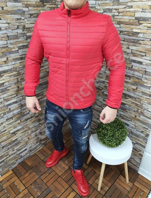 Мъжко спортно яке в червено