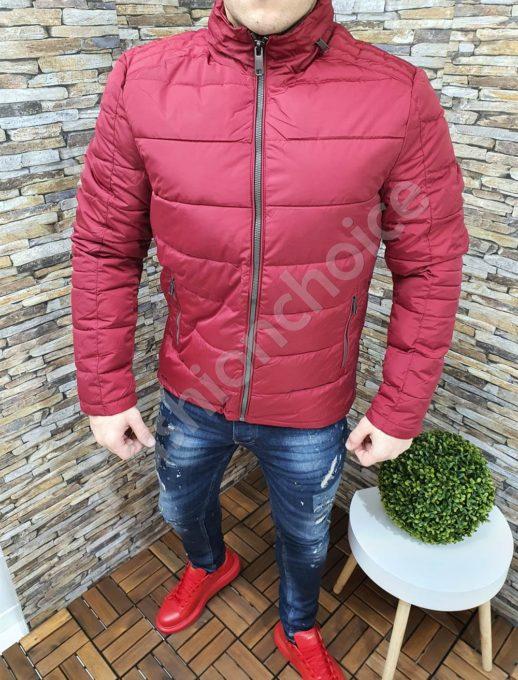 Зимно мъжко яке със скрита качулка