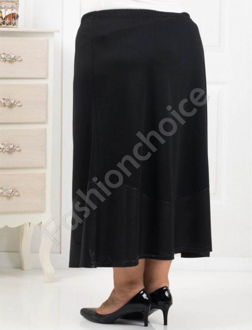 Стилна макси пола с апликация цвете