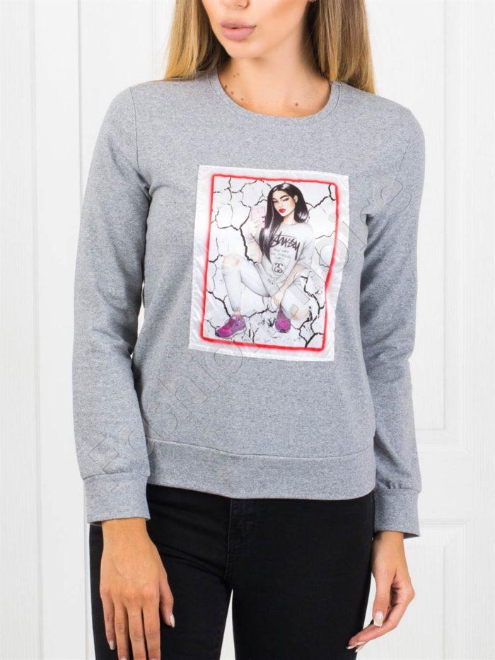 Дамска блуза с апликация-код 2500-10