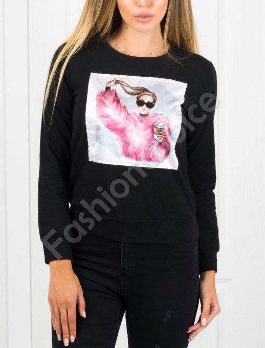 Дамска блуза с апликация