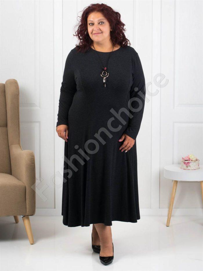 Плътна дамска макси рокля+подарък нежно бижу-код 6085-1