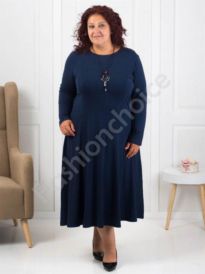 Плътна макси рокля+подарък нежно бижу-код 6085-1