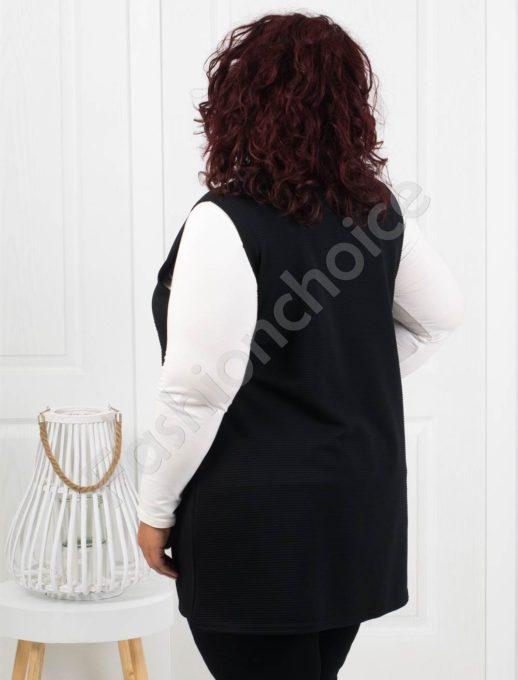 Практично дамско макси елече с джобчета