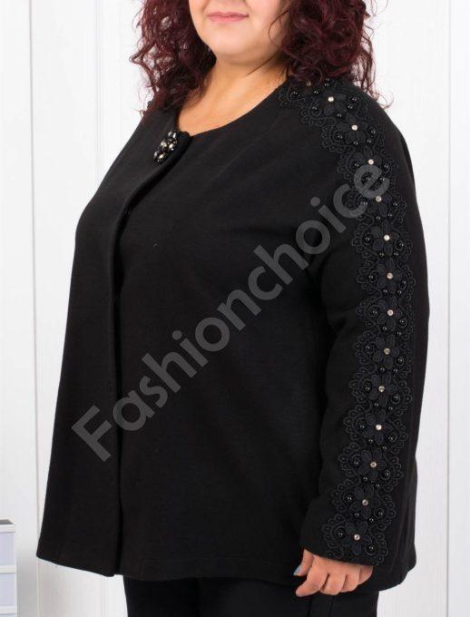 Късо макси палтенце с брюкселска дантела-код 3686