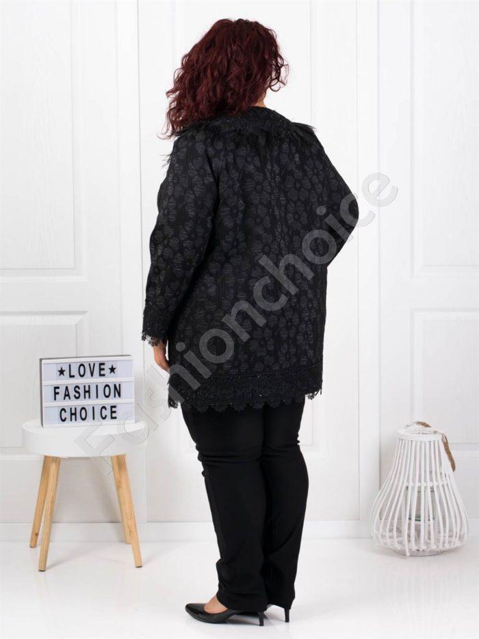 Шикозно плътно палто в чудесен десен-код 3684