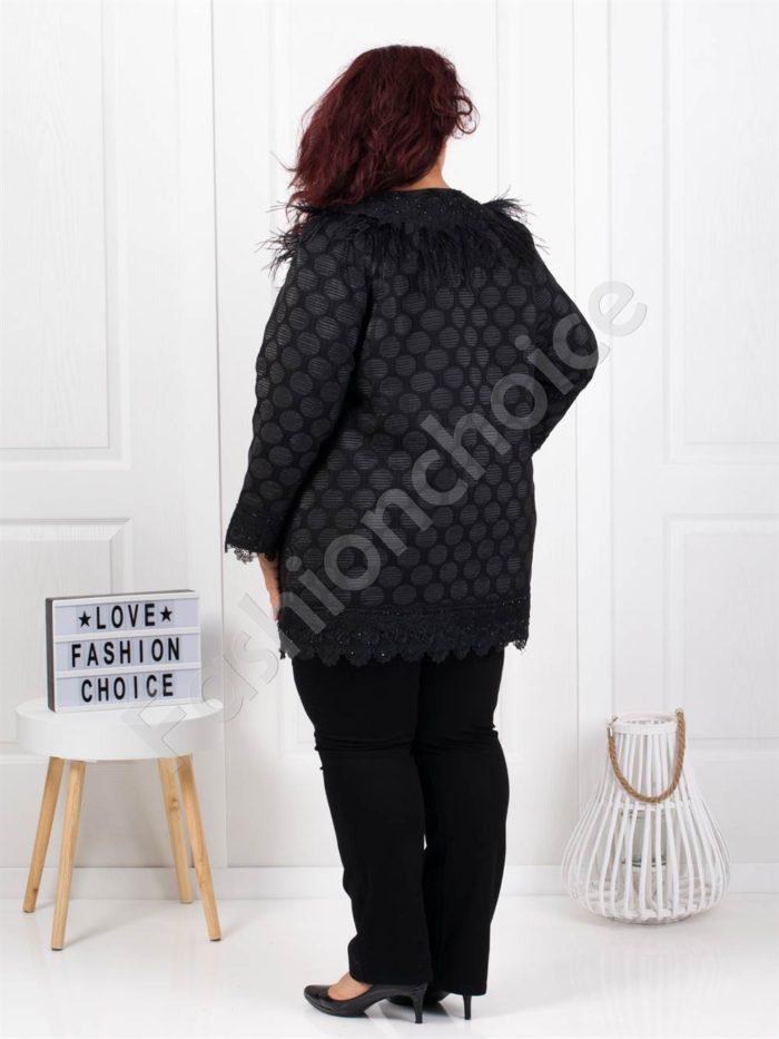 Красиво шикозно плътно палто в чудесен десен-код 3684-1