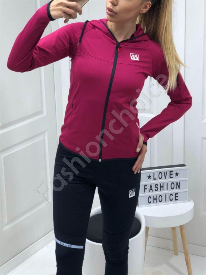 Дамски спортен комплект в цвят циклама-Код 008-2