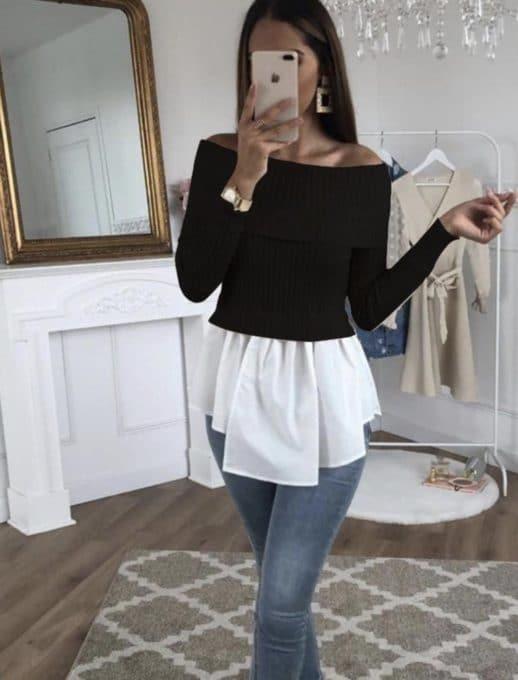 Дамска блузка с пеплум