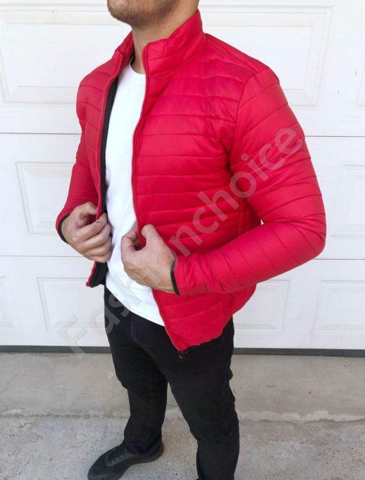 Мъжко спортно яке в червено-код 7122