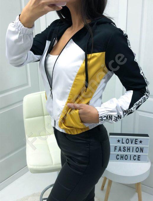 Дамско шушляково якенце в черно-Код 1258-2