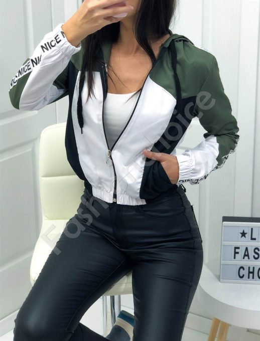 Дамско шушляково якенце в цвят каки-Код 1258-1