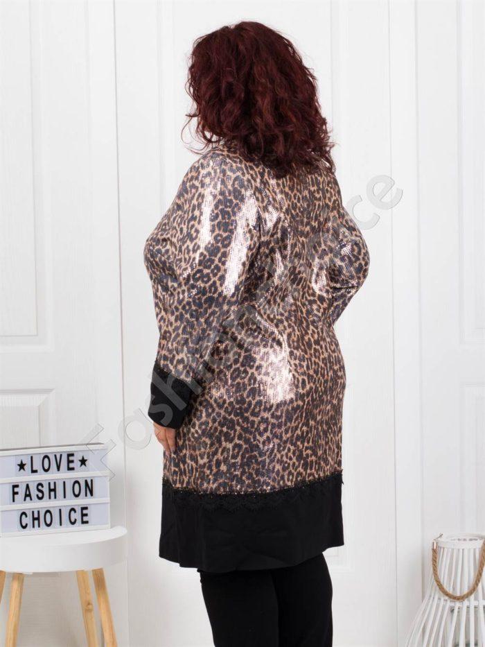 Бутиково макси палто в чудесен тигров десен-код 3733