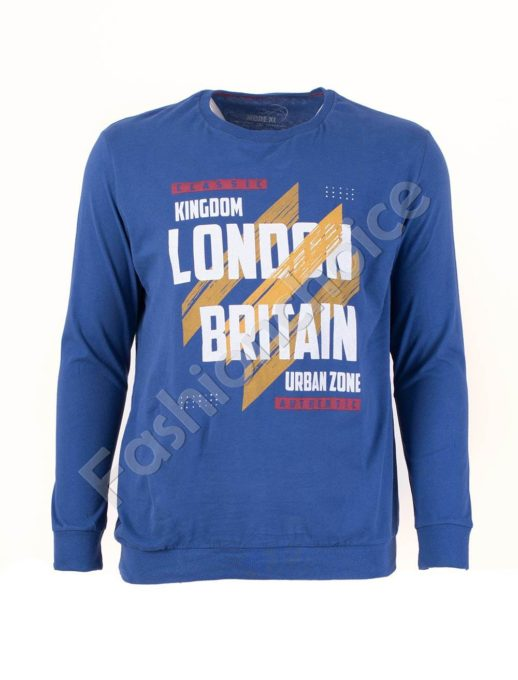 Мъжка спортна блуза LONDON цвят парламент/3XL-10XL/