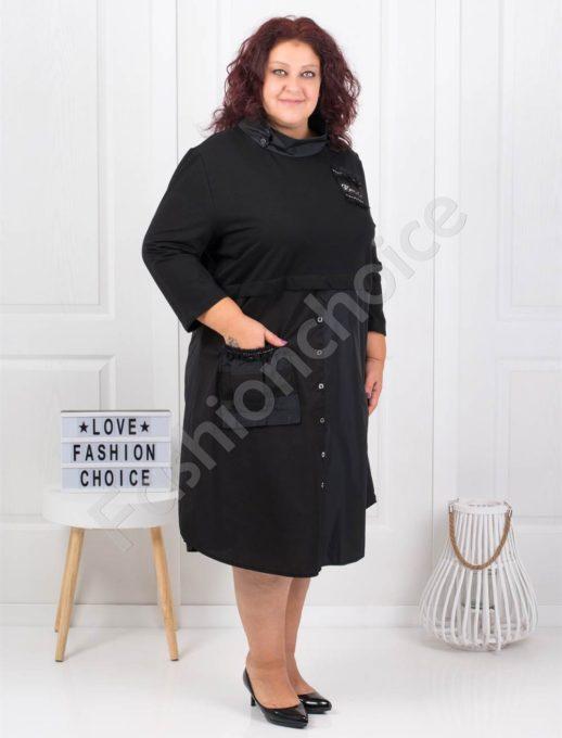 Красива и елегантна макси рокля в черно