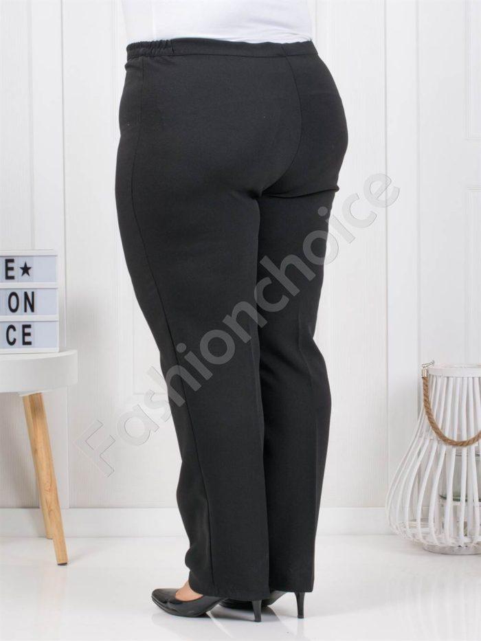 Плътен класически макси панталон в черно/52-66/-код 01