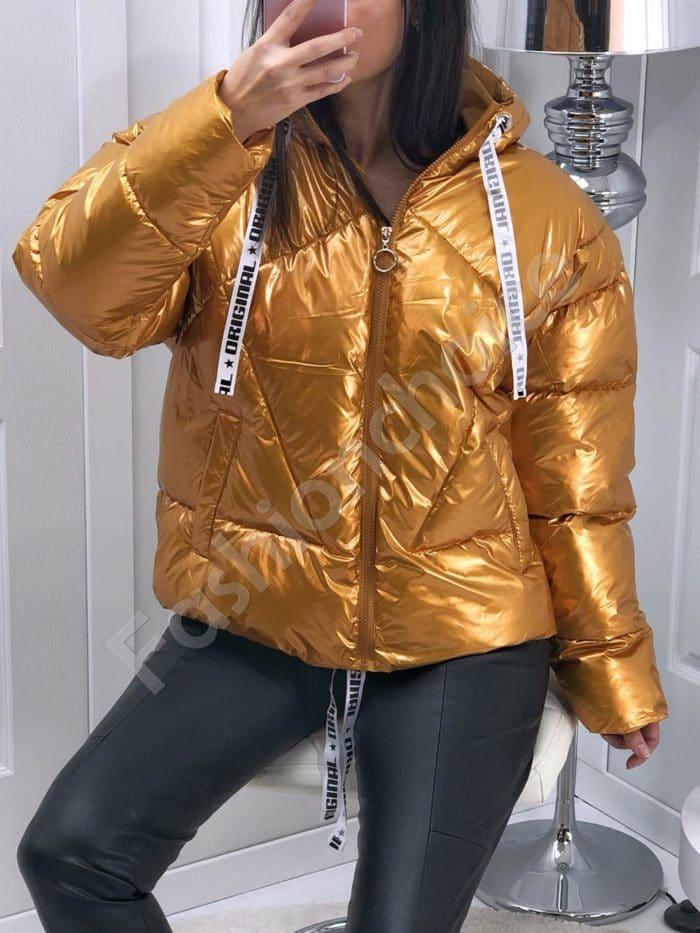 Лимитирано златно яке с обемни ръкави-Код 7958