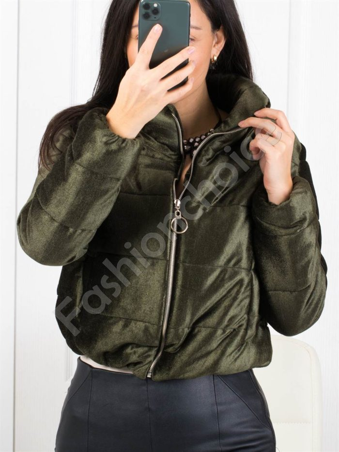 Кокетно плътно дамско якенце в цвят каки-Код 1368-2