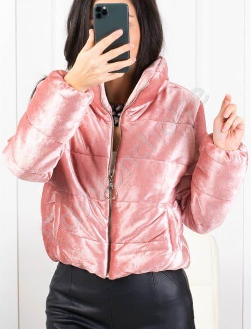 Кокетно плътно дамско якенце в розово-Код 1368-3