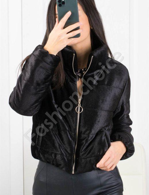 Кокетно плътно дамско якенце в черно-Код 1368