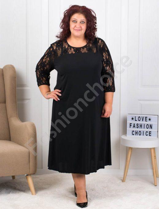 Прекрасна официална рокля с дантелена платка-код 8078