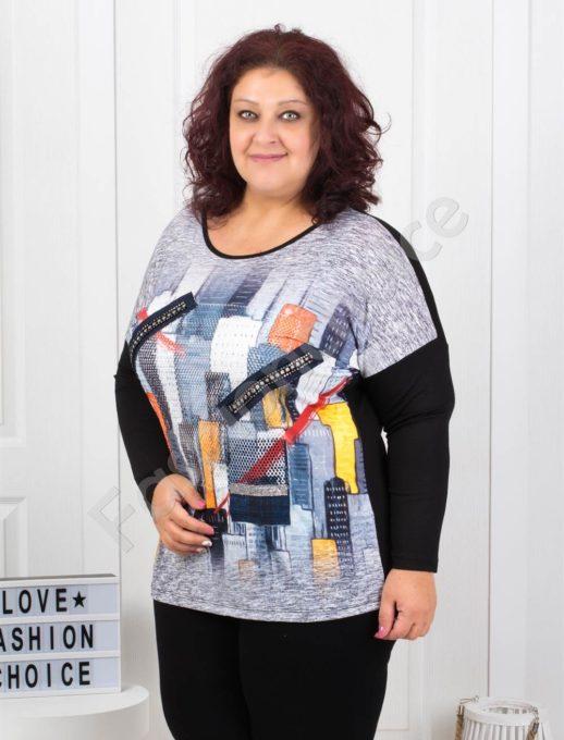 Дамска макси блузка с 3D ефект-код 7527