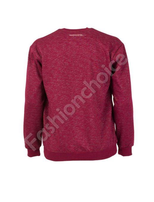 Ватирана мъжка макси блуза в бордо-код 6290-3