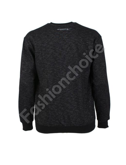 Ватирана мъжка макси блуза в черно-код 6290