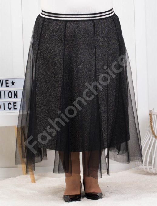 Разкошна макси пола с тюл-код 3084