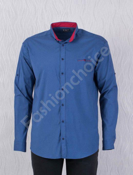 Прекрасна мъжка макси риза с джобче-парламент/7XL,8XL/-код 1169-3